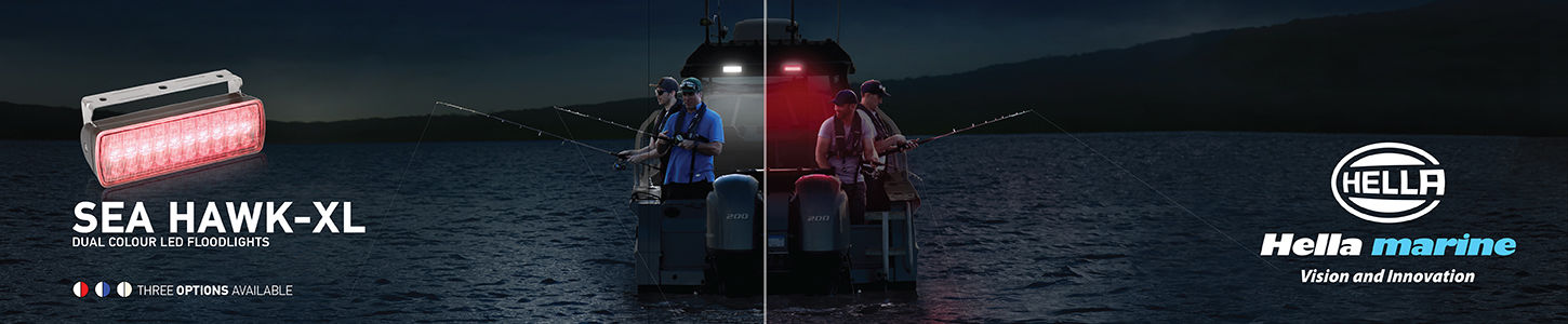 Hella Marine SeaHawk XL Dual Colour Floodlights