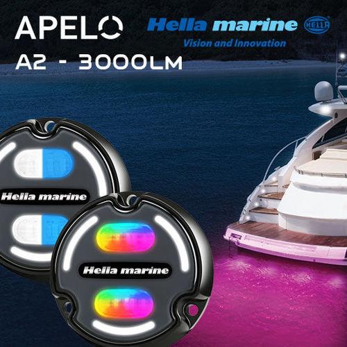 Picture of Hella Marine Apelo A2 Underwater Lights - Aluminum